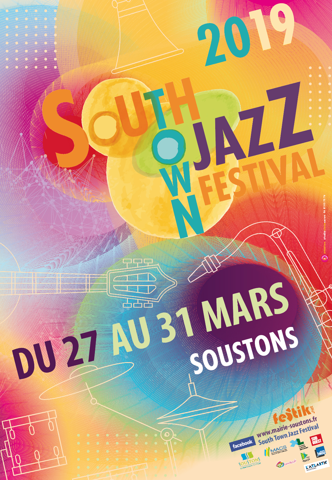 affiche south town jazz festival 2019 OK