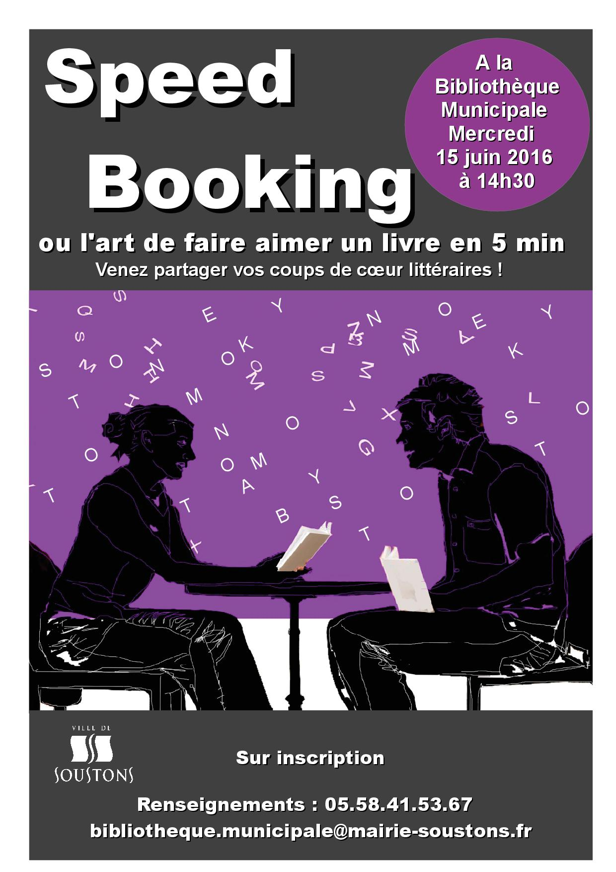 Affiche adultes SPEED BOOKING 06-2016