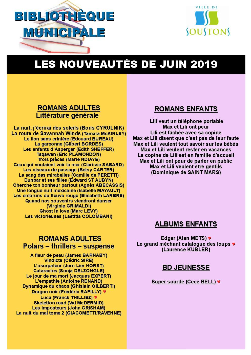 Affiche acquisitions 06-2019