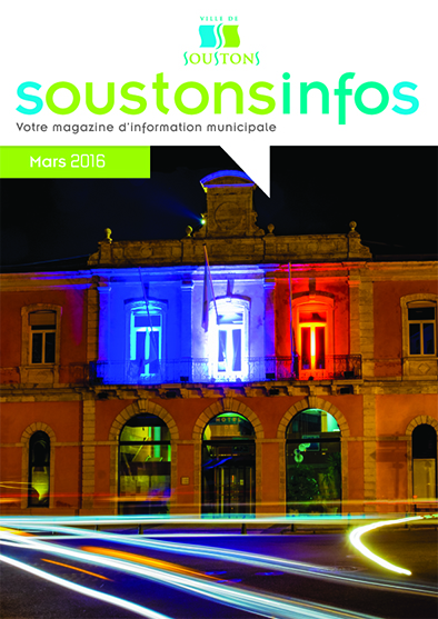 couv JOURNAL MUNICIPAL 2016 SOUSTONS MAR7
