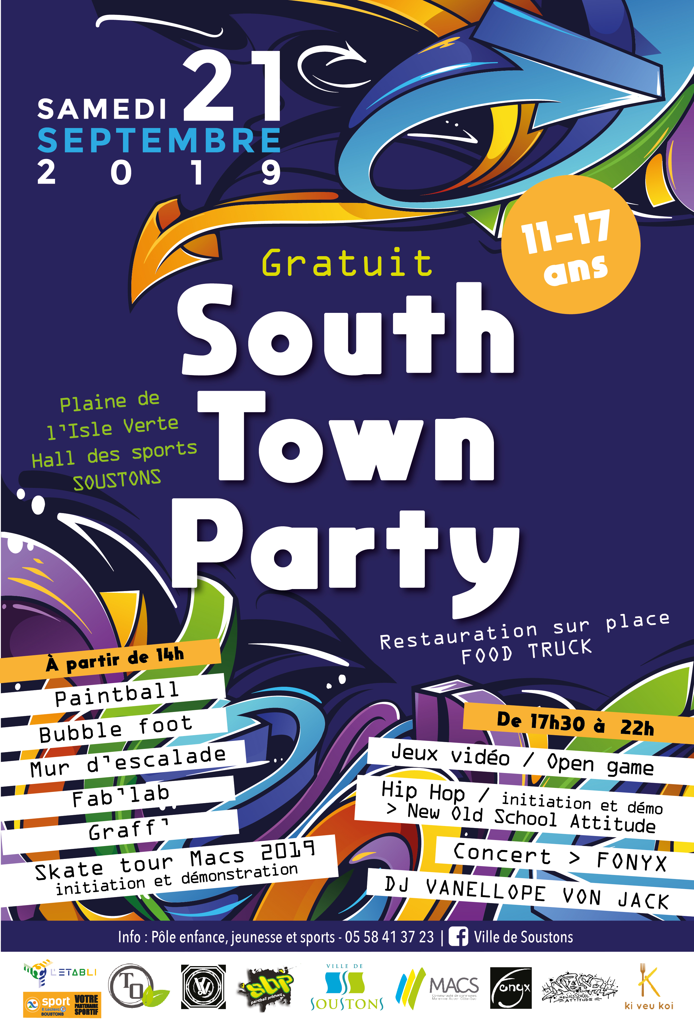 Affiche South Town Party 2019 OK
